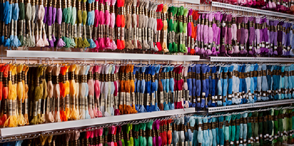 Large selection of thread